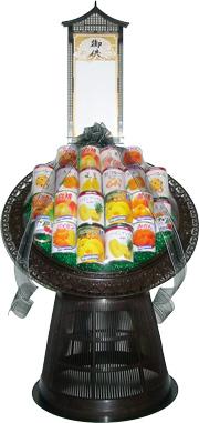 果物缶詰盛籠