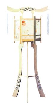 白木六角灯(大)