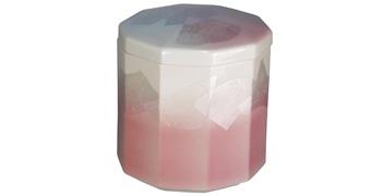 九谷焼 10角銀彩ピンク